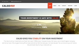 HYIP calsoinv.com screenshot home page