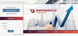 HYIP risefinance.cc screenshot home page