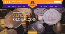 HYIP altradecoin.com screenshot home page