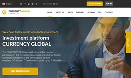 HYIP currency-global.com screenshot home page