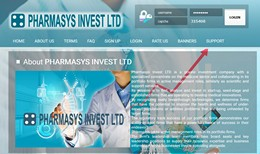HYIP pharmasys.biz screenshot home page