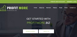 HYIP profitmore.biz screenshot home page