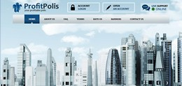 HYIP profitpolis.com screenshot home page