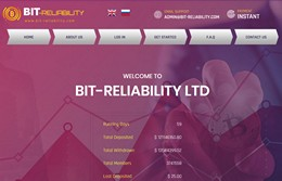 HYIP bit-reliability.com screenshot home page