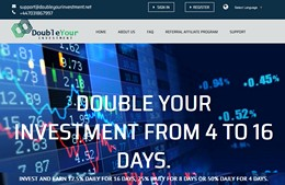 HYIP doubleyourinvestment.net screenshot home page