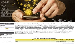 HYIP tech-bitcoin.com screenshot home page