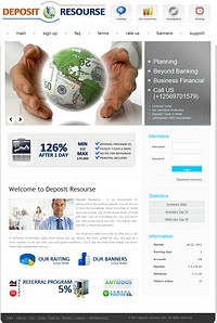 HYIP deposit-resourse screenshot home page