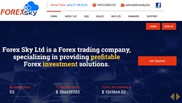 HYIP forexsky.biz screenshot home page