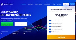 HYIP investchain.co screenshot home page