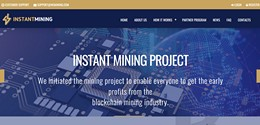 HYIP insmining.com screenshot home page