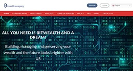 HYIP bitwealth.company screenshot home page