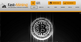 HYIP fastmining.org screenshot home page