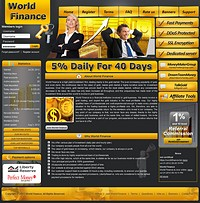 HYIP worldfinance screenshot home page