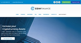 HYIP coinfinance.me screenshot home page