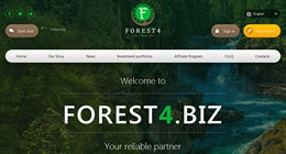 HYIP forest4.biz screenshot home page