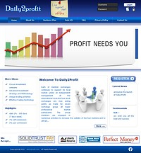 HYIP Daily2Profit screenshot home page