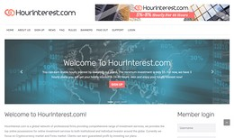 HYIP hourinterest.com screenshot home page