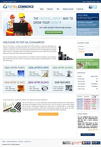 HYIP topoilcommerce screenshot home page