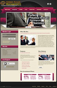 HYIP unionassetmanagement screenshot home page
