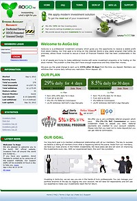 HYIP aogo screenshot home page