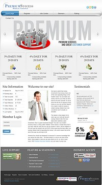 HYIP premiumsuccessolution screenshot home page