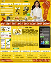 HYIP beegold screenshot home page