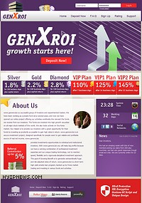 HYIP genxroi screenshot home page