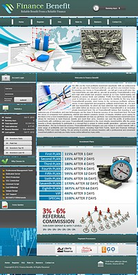 HYIP financebenefit screenshot home page