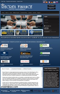 HYIP recreafinance screenshot home page