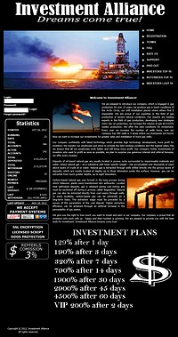HYIP investmentalliance screenshot home page