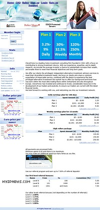 HYIP cleverforex screenshot home page