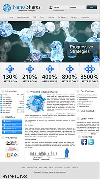 HYIP nano-shares screenshot home page