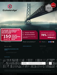 HYIP globobridge screenshot home page