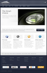 HYIP sureinv screenshot home page