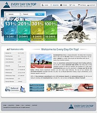 HYIP everydayontop screenshot home page
