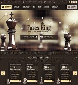 HYIP forexking.biz screenshot home page