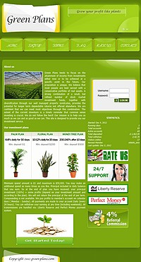 HYIP green-plans screenshot home page