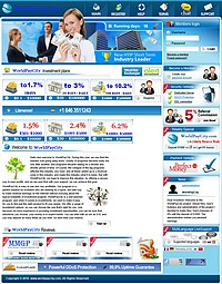 HYIP worldpaycity screenshot home page