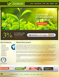 HYIP eco-invest screenshot home page