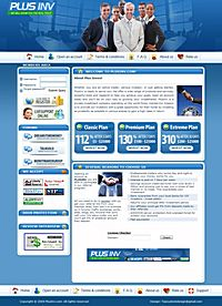HYIP plusinv screenshot home page