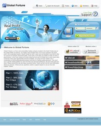 HYIP globalfortune screenshot home page
