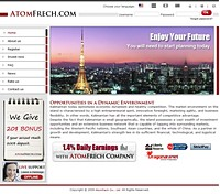 HYIP atomfrech screenshot home page