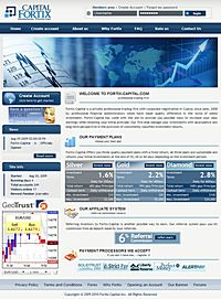HYIP fortixcapital screenshot home page