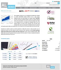 HYIP al-invest screenshot home page