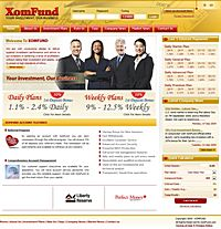 HYIP xomfund screenshot home page