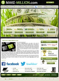 HYIP make-million screenshot home page