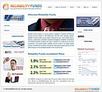 HYIP ReliabilityFunds screenshot home page