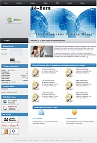 HYIP 24-earn screenshot home page