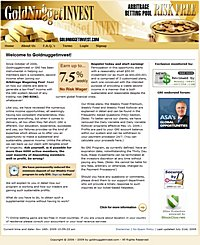 HYIP Goldnuggetinvest screenshot home page