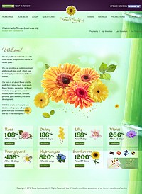 HYIP flower-business screenshot home page